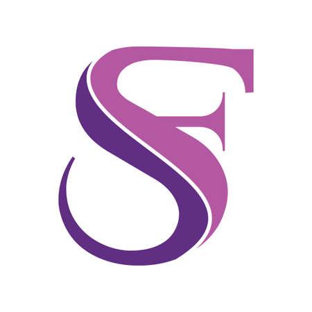 monogram SF letter initial logo template