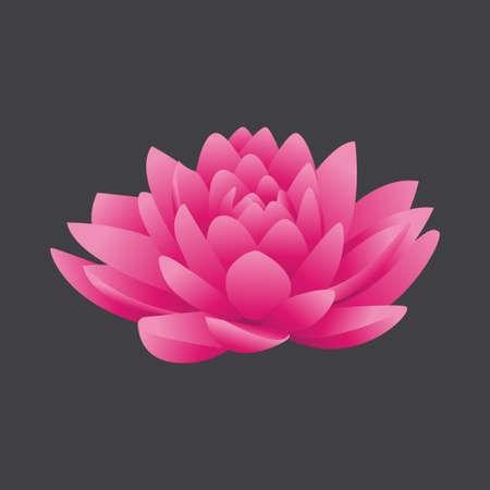 beautiful gradient lotus flower vector template