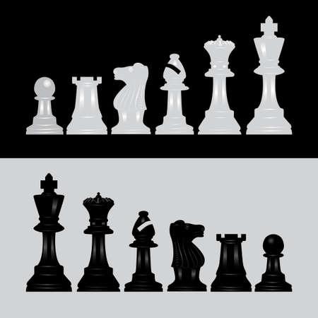 complete chess vector illustration bundle set