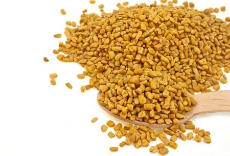 close up of seeds of fenugreek