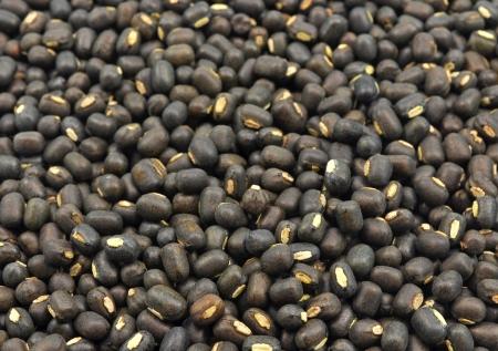 close up of seeds of black gram Standard-Bild