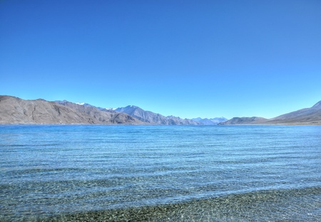 water waves in blue mountain lake Stock Photo - 16518202