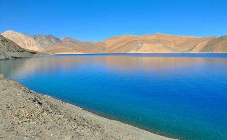 close up of corner of blue mountain lake