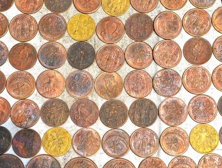 inprint: relegious copper coins
