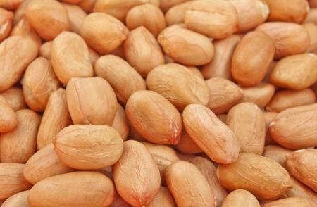 goober peas: close up pile of dried seeds of groundnut