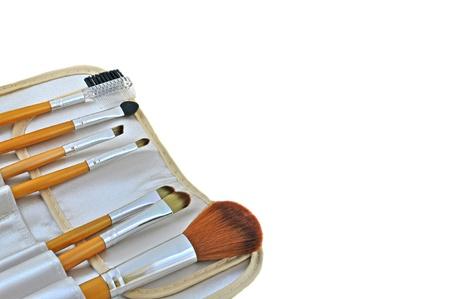 make up brushes: close up of set of make up brushes