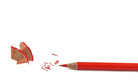 close up of red pencil color with shave dust  Stock Photo - 16825155