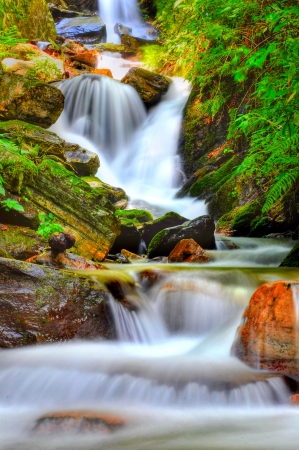 close up of narrow water fall Stock Photo - 16857163