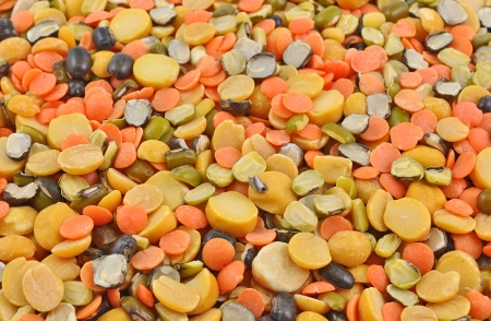 black gram: pile of mixed pulse