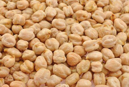 grams: close up pile white kabuli grams  Stock Photo