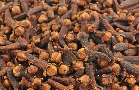 close up pile of clove buds Stock Photo