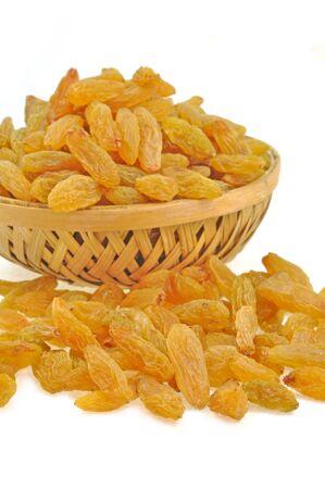 kept: raisins kept in basket