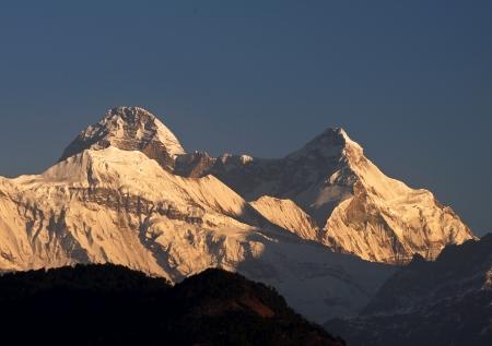 devi: mountain Nanda Devi during sunrise