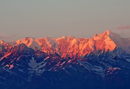 close up of Mountain Maktoli during sunset Stock Photo