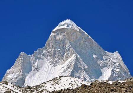 shivling: close up of mount  Shivling   in Indian Himalaya