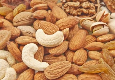 frutas secas: variedad de frutos secos