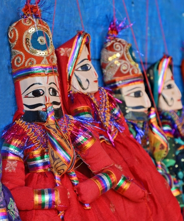 colorful Indian Traditional Puppets  photo