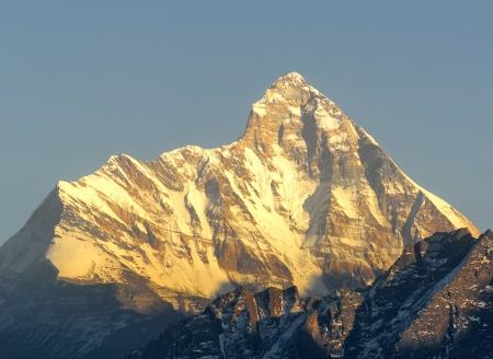 devi: early sun set scene on Mountain  Nanda devi