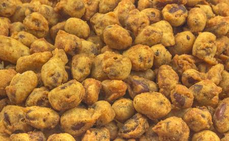 groundnut: close up of fried groundnut  namkeen