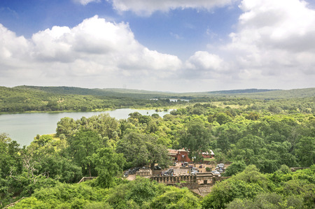 Aerial  view of Ranthambhore National park Stock Photo