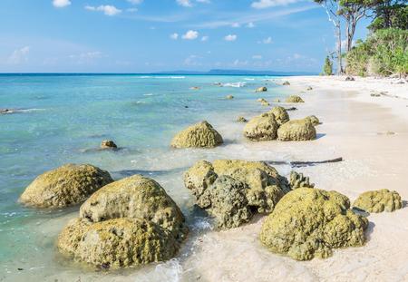 Laxmanpur beach inNeil Island, Andaman, India