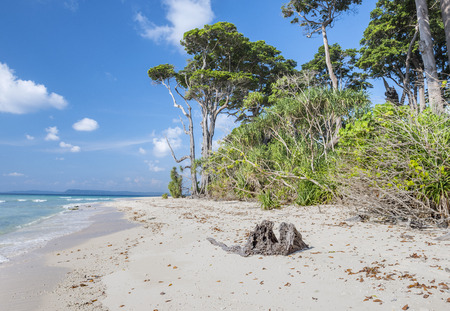 pristine corals: View of Laxmanpur beach, at Neil Island, Andaman, India
