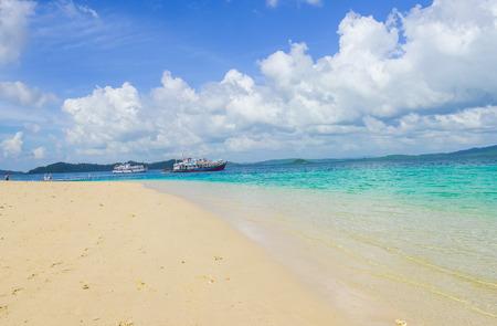 beach at at Jolly buoy Island Andaman and NIcobar, India
