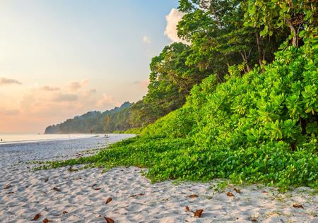sunset at Radha nagar Beach, Andaman and Nicobar, India