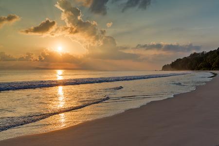 sunset at Radha Nagar, Beach, havelock island, India