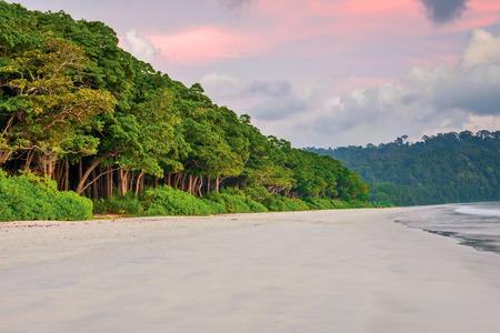 colorful senset scene at Radha Nagar Beach, Havelock Island India