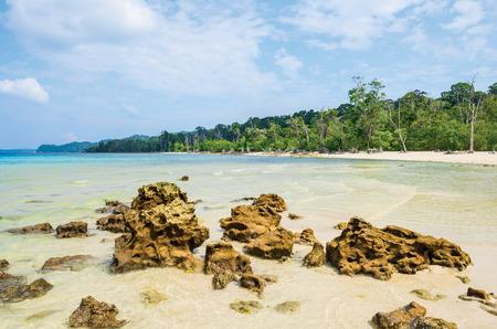 Elephant Beach in Havelock Island, Andaman, India Standard-Bild