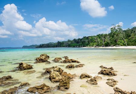 scattered rock at elephant Island, Havelock, Andaman and Nicobar, India