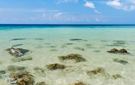 clear water at sea coast in Andaman and Nicobar, India