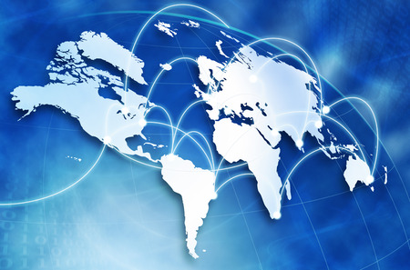 latin  america: Global network concept Stock Photo