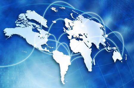 latin: Global network concept Stock Photo