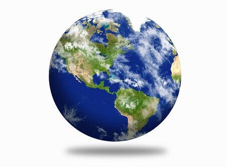 continente americano: Tierra del planeta con los continentes americano