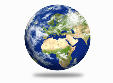 Planet Earth with European and african continent Standard-Bild