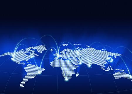 Wereldwijd netwerk kaart Stockfoto