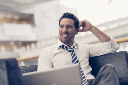30 34 years: Portrait of a businessman relaxing Stock Photo