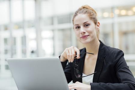 Portret van een zakenvrouw Stockfoto
