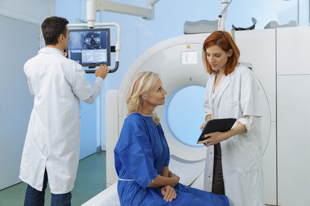 scanned: Radiologic Technician and Patient Being Diagnosed scanned and we