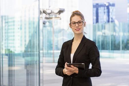 woman business suit: Portrait of a businesswoman in financial district