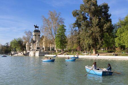 Spain, Madrid, Parque Del Buen Retiro