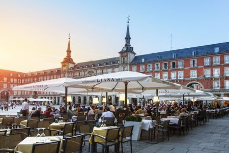 Madrid, restaurant on Plaza Mayor