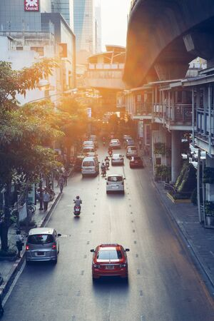Bangkok, Traffic in Silom district