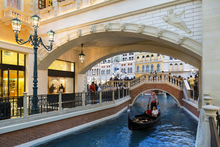 Grand Canal at the Venetian Hotel in Las Vegas, Nevada, USA Editorial