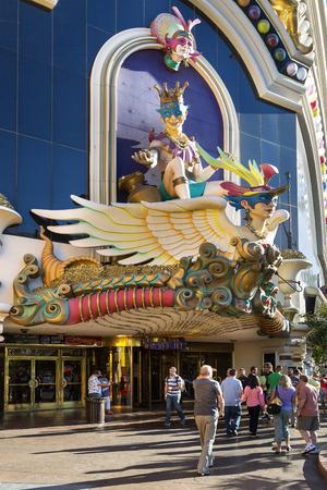 Las Vegas, sculptural facade of Harrahs Casino.