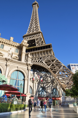 Las Vegas,the famous avenue, the Strip with Eiffel tower