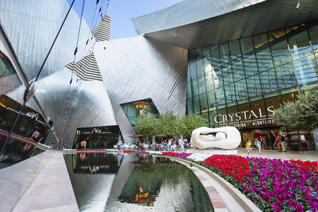 Las Vegas, The Crystals shopping mall at CityCenter complex