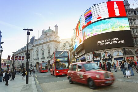 London, Traffic at Piccadilly Circus
